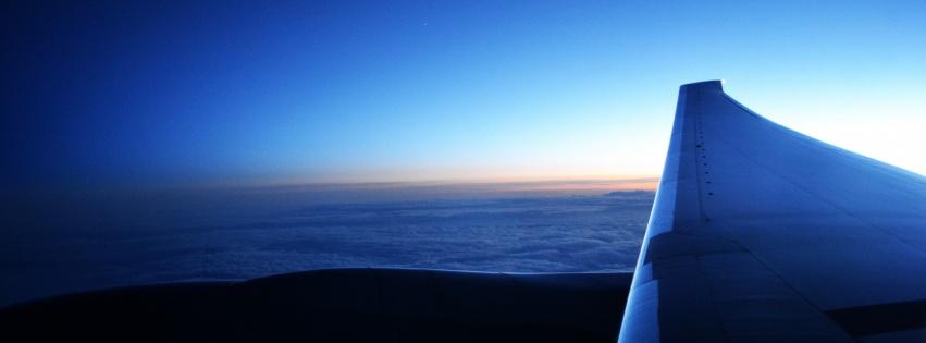 Vue nuage boeing 777 couverture facebook