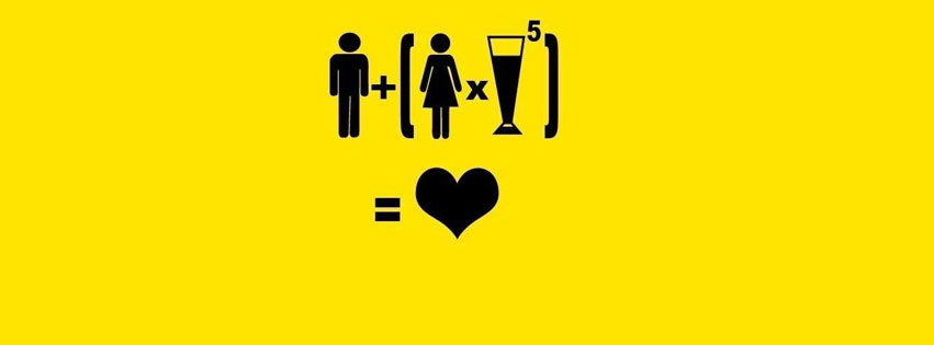 Equation alcool couverture facebook