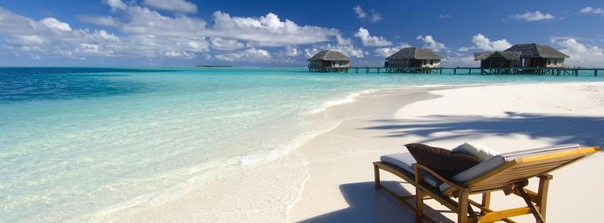 Couverture facebook les Maldives
