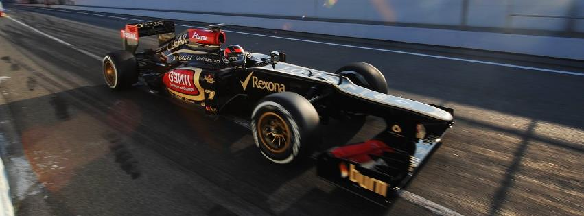 Couverture facebook Lotus F1 Team
