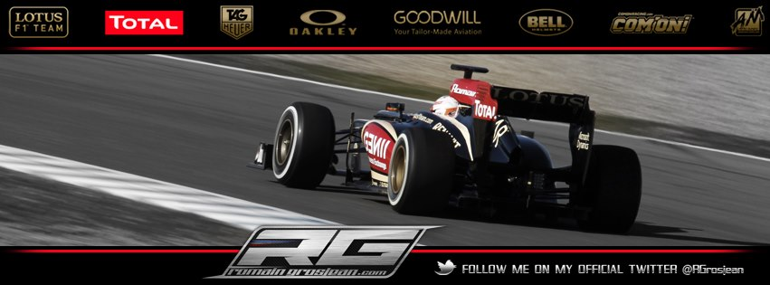 Couverture facebook Romain Grosjean formule 1