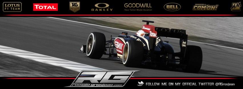 Couverture facebook Romain Grosjean formule 1