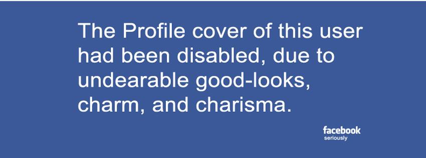 Couverture désactivée drole facebook