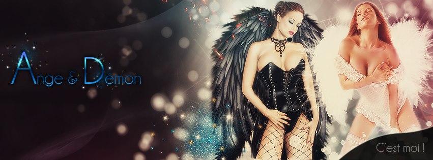 Couverture Facebook Ange et démon sexy