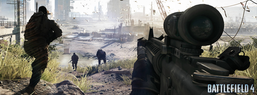 Battlefield 4 sniper couverture facebook