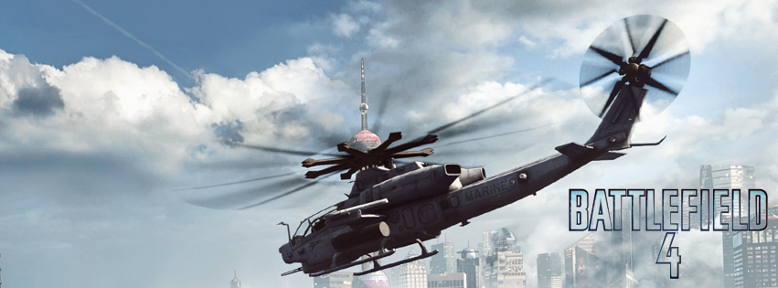 Couverture facebook Battlefied 4 helicopter