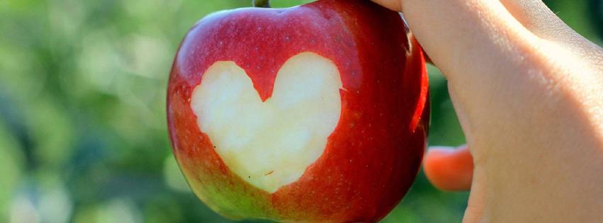 coeur pomme couverture facebook