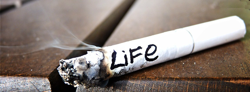 couverture facebook life vie cigarette