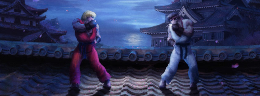 Street Fighter jeux video couverture facebook