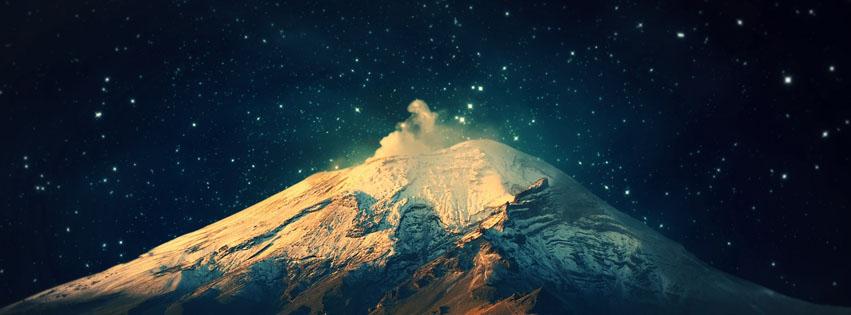 montagne ciel étoilé couverture facebook